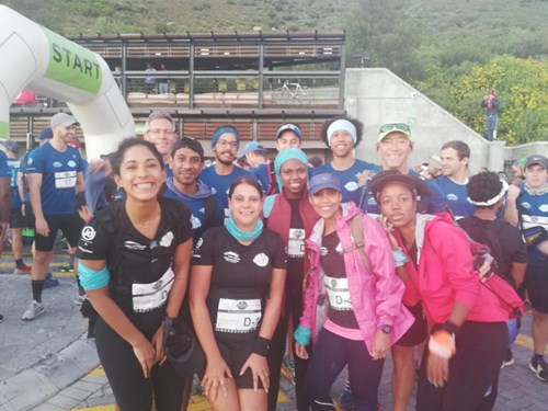The Futuregrowth 2019 Cableway Charity Challenge team